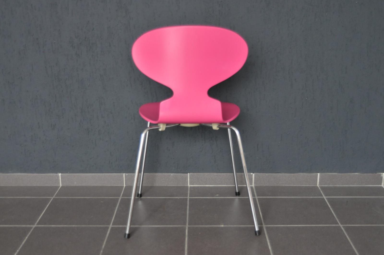 1x Fritz Hansen Stuhl 3101 Arne Jacobsen Chair Stapelstuhl 44cm Ameise Von 19